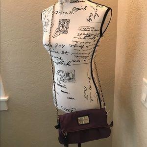 NWOT Bobby Schandra Purple Clutch Messenger Bag